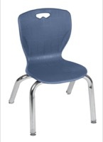 "Regency Classroom Chair - Andy 12"" Stack Chair - Navy Blue"
