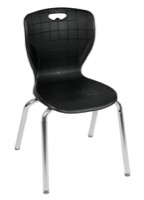 "Regency Classroom Chair - Andy 18"" Stack Chair - Black"