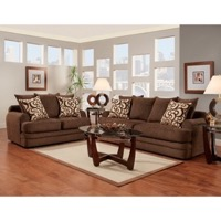 Walnut Living Room Set