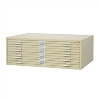 "10-Drawer Steel Flat File for 30"" x 42"", Tropic Sand"