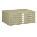 "5-Drawer Steel Flat File for 30"" x 42"" Documents,"