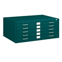 "5-Drawer Steel Flat File for 24"" x 36"" Documents"