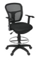Regency Office Chair - Harrison Swivel Stool - Black