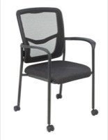 Regency - Guest Chair - Kiera Stacking Chair - Casters