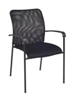Regency Guest Chair - Mario Stack Chair - Black