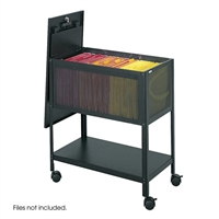 Steel Mesh File Cabinet with Top, Black