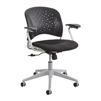 Reve Task Chair Round Back, Black