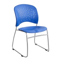 Reve Guest Chair Sled Base Round Back (Qty. 2), Blue