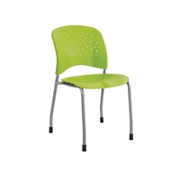 Reve Guest Chair Straight Leg Round Back (Qty. 2), Green