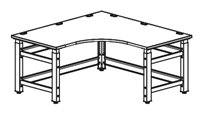 Mayline Techworks Adjustable Corner Table