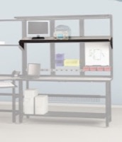 "Mayline Techworks Shelves - 72""W High Pressure Laminate Fixed Shelf"