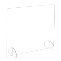 "Portable Freestanding 23.5""H Acrylic Sneeze Guard"