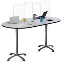 Multi-Workstation Tabletop Wellness Screen
