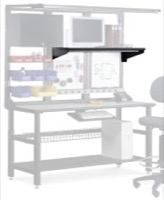 "Mayline Techworks Shelves - 24""W High Pressure Laminate Tilt Shelf"