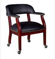 Regency - Ivy League Captain Chair with Casters - Black