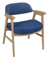 Regency Guest Chair - 476 Side Chair  - Natural/ Blue