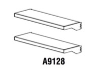 "Mayline Techworks Modular Components - (2 each) 28 1/2""W x 3""H x 9""D Shallow Shallow Shelf"