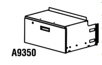 "Mayline Techworks Modular Components - 12"" hanging file drawer - optional lock available. 28 1/2""W x 13 1/2""H x 22 1/2""D overall."