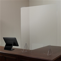 "Acrylic Free-Standing Register Shield / Sneeze Guard, 32""H x 40""L"