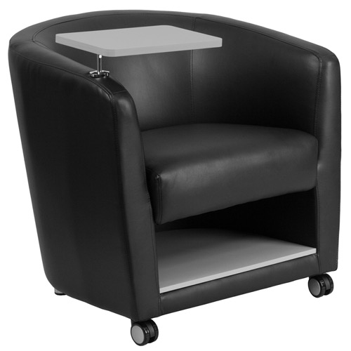 Phenomenal Reception Chair Black Leather Reception Chair Tablet And Casters Caraccident5 Cool Chair Designs And Ideas Caraccident5Info