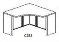 "CSII Stand Alone Corner Surfaces, 30""D x 42""W x 42""W x 30""D x 29""H"