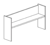 "CSII Open Shelf Overheads, 48""W x 14""D x 36""H"