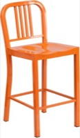 Orange Metal Stool