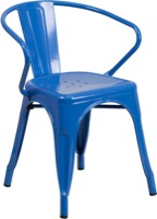 Blue Metal Chair with Arms