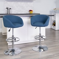 Fabric Adjustable Height Barstools