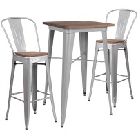 Metal/Wood Colorful Bar Table and Stool Sets