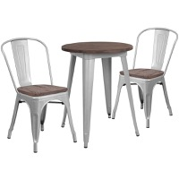 Metal/Wood Colorful Table and Chair Sets