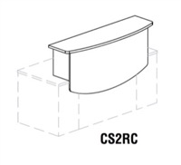 "CSII Reception Counter; 63""W x 18""D x 17.325""H"