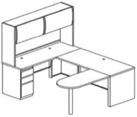 Mayline Office Furniture CSII Modular Desks