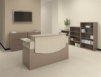 Mayline Office Furniture CSII Reception Desk