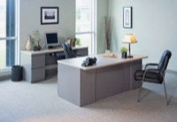 Mayline Office Furniture CSII Bow-Front Desks