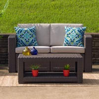 Rattan Patio Lounge Loveseats