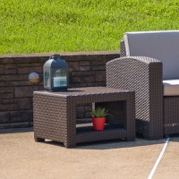 Rattan Patio End Tables