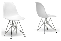 Eames-Inspired Molded Plastic Side Chair