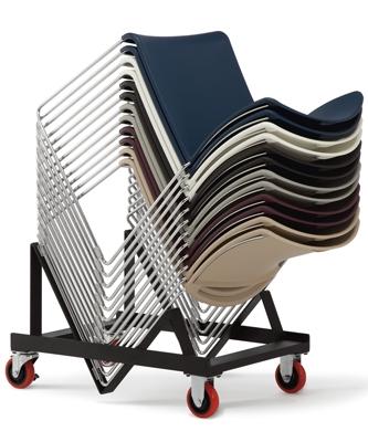highmark quickstacker guest chair dolly