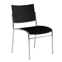 Escalate Stacking Chair, Plastic Back and Seat Black, Quantity of 4