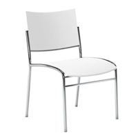 Escalate Stacking Chair, Plastic Back and Seat White, Quantity of 4