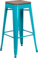 Metal/Wood Colorful Restaurant Barstools