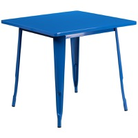 Blue Metal Indoor Table