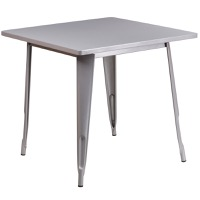 Silver Metal Indoor Table
