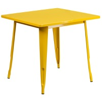 Yellow Metal Indoor Table