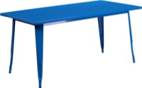 Rectangular Blue Metal Table