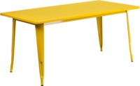 Rectangular Yellow Metal Table