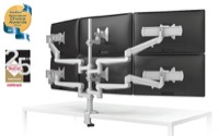 ESI Evolve Flat Panel Display Four Monitor Arms