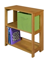 "Flip Flop 28"" High Folding Bookcase - Medium Oak"