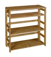"Flip Flop 34"" High Folding Bookcase - Medium Oak"